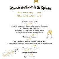 Menu du Réveillon de la Saint-Sylvestre !